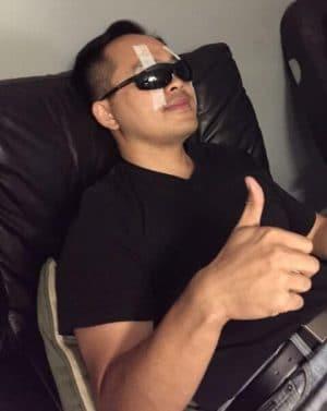 LASIK patient thumbs up