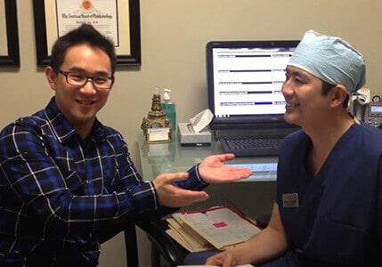 Jason Chen with Dr. Liu